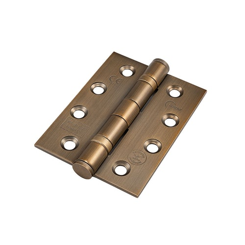 14854 Frisco Eclipse Ball Bearing Hinge Grade 13 Fire Rated 102mm x 76mm Pack of 2 Antique Bronze