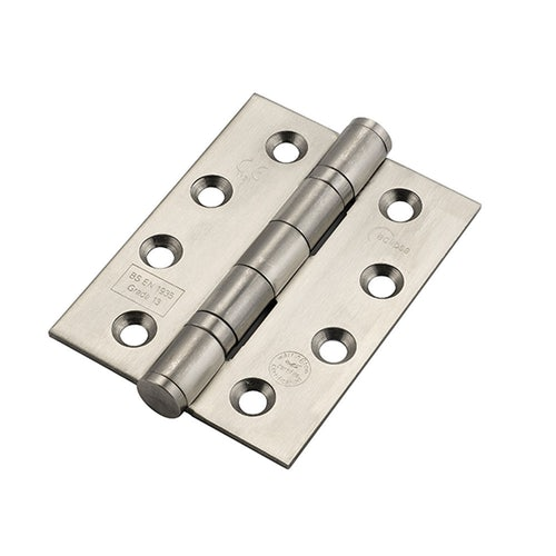14854 Frisco Eclipse Ball Bearing Hinge Grade 13 Fire Rated 102mm x 76mm Pack of 2 Satin Stainless Steel