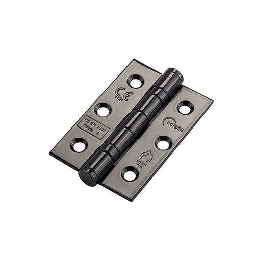 14917 Frisco Eclipse Ball  bearing Hinge Grade 7 Fire Rated 76mm x 51mm Pack of 2 Black Stainless Steel