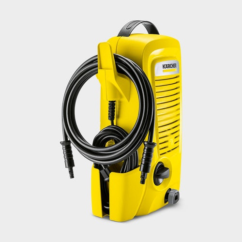 16730070   Karcher K2 Universal Home Cold Water Pressure Washer Side view with accessories