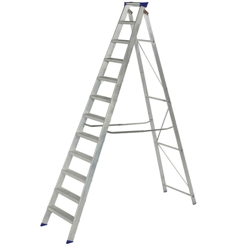 Video of Werner 10 Tread Master Trade Stepladder - BS 2037 EN131 Professional