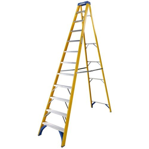 Video of Werner 12 Tread Trade Fibreglass Step Ladder - BS 2037 EN131 Professional