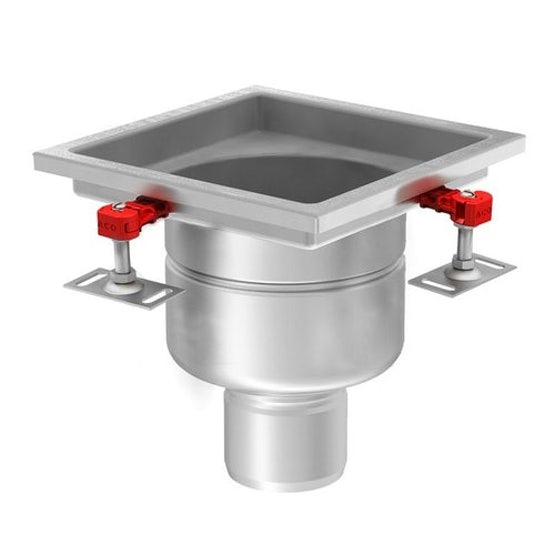 aco 218 stainless steel 316 fixed vertical outlet gully