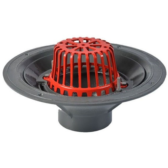 aco rainwater roof outlet vertical screw with dome grate