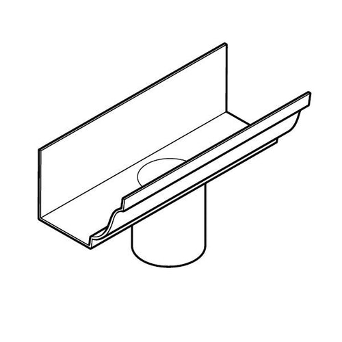 aluminium guttering ax moulded 76mm x 125mm x 100mm outlet