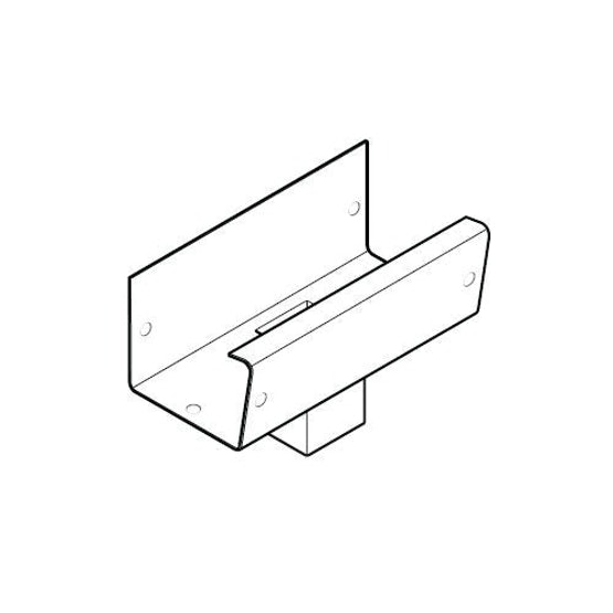 aluminium gx smooth gutter square outlet