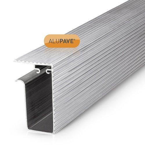 alupave apv314m fireproof flat roof and decking side gutter 3m mill