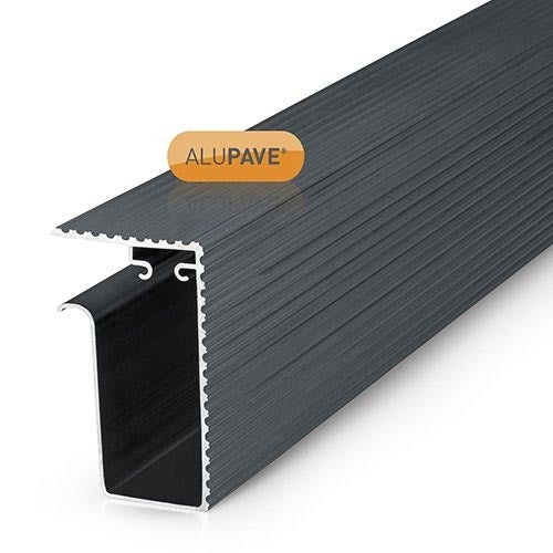 alupave apv320g fireproof flat roof and decking side gutter 6m grey