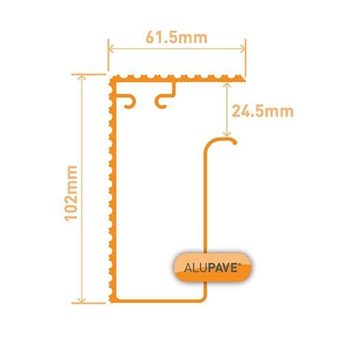 alupave fireproof flat roof and decking side gutter profile dimensions