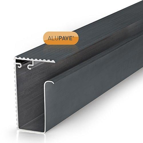 alupave fireproof flat roof and decking side gutter profile grey