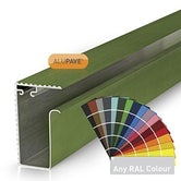 alupave fireproof flat roof and decking side gutter profile powder coated any ral colour