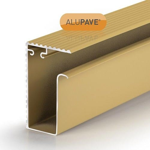 alupave fireproof flat roof and decking side gutter profile sand