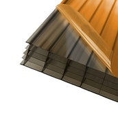 AXIOME 25mm Bronze Polycarbonate Roof Sheet