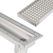 Blucher Commercial Linear Channel Drain for Sheet Floor End Outlet