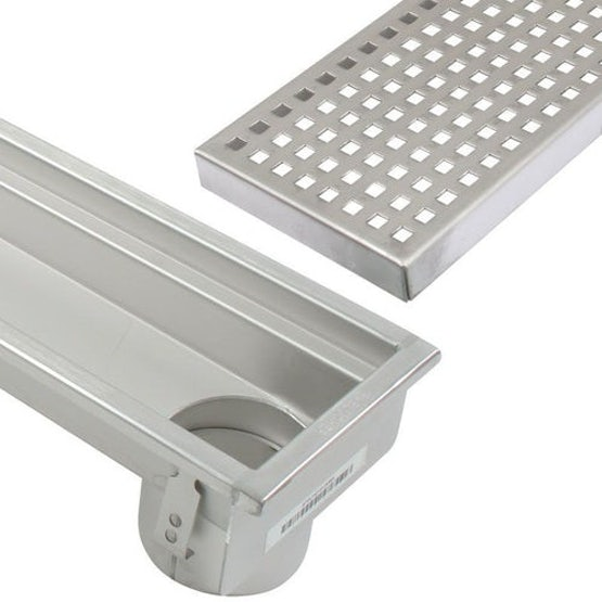 blucher stainless steel commercial linear channel drain with end outlet
