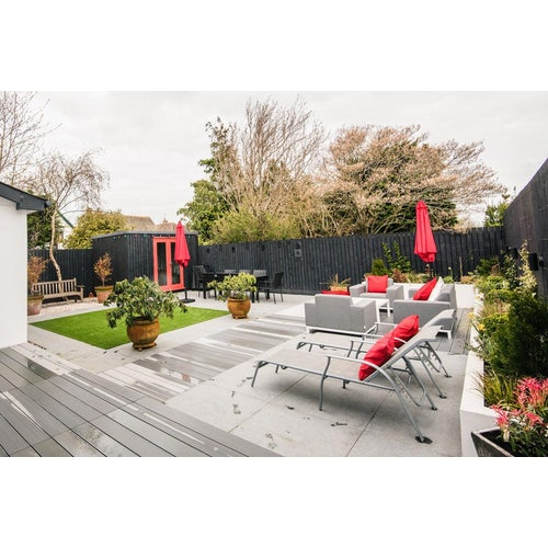 cladco hollow composite decking in light grey