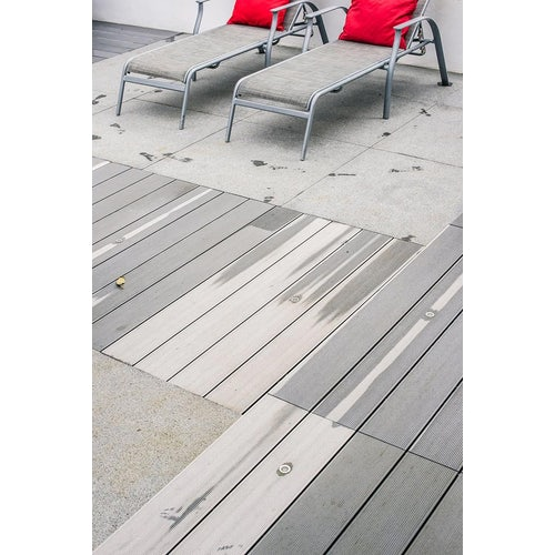 cladco hollow composite decking sun loungers