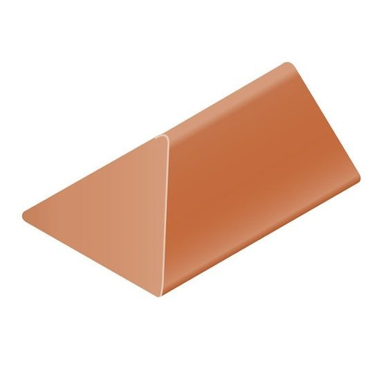 clay angled ridge with hip end