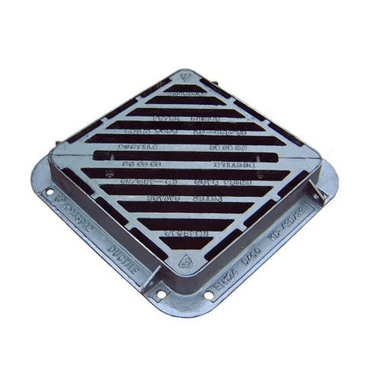 ej cast iron gully grill double triangle kerbside