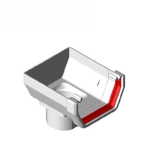 freeflow box plastic gutter stopend outlet