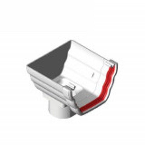 freeflow ogee style gutter stopend outlet