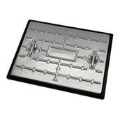 Galvanised Steel Access Cover and Polypropylene Frame 600mm x 450mm - 2.5 Tonne