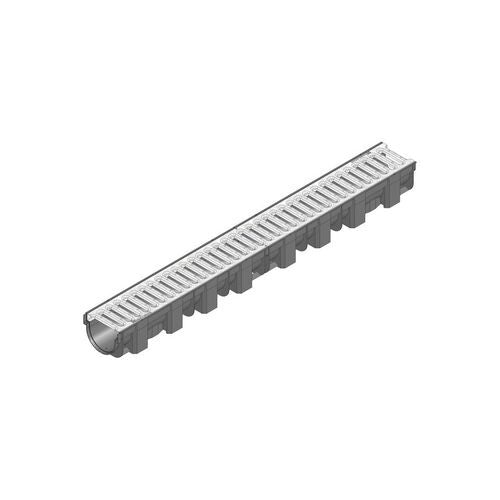 hauraton recyfix top x a15 channel  galvanised steel slotted grating  1000mm175458