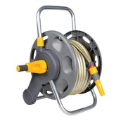 Hozelock 2 in 1 Compact Reel including 25m Hose pipe, nozzle and connectors