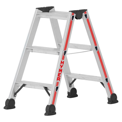 Hymer 4024 2 Section Double Sided Stepladder 0.7m 0.78m