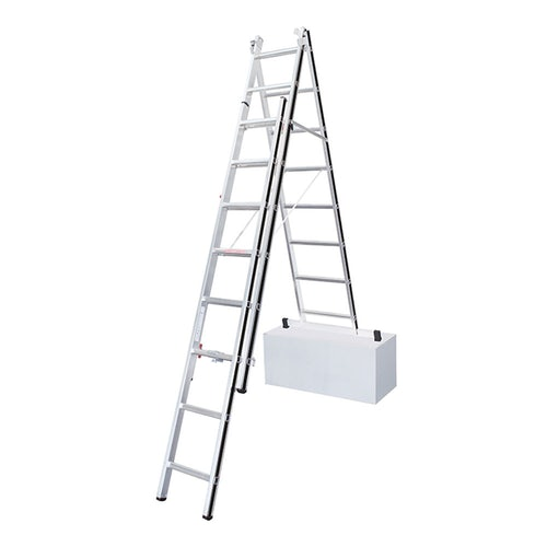Hymer AluPro 3 Section Black Line Fixed Stabiliser Bar Combination Ladder 2.32m 5.11m secondary