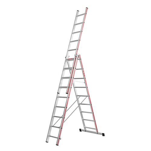 Hymer Red Line 3 Section Combination Ladder 2.63m 6.55m