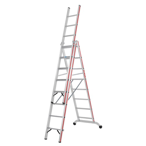 Hymer Red Line Industrial 3 section Combination Ladder 2.43m 5.51m