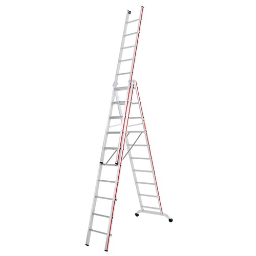 Hymer Red Line Industrial 3 section Combination Ladder 3.02m 7.22m