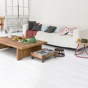 Quick-Step Impressive Pine Laminate Flooring White Planks