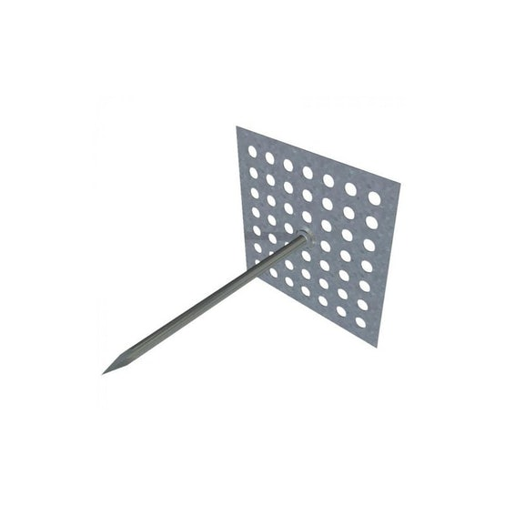 insulation hangers with perforated base