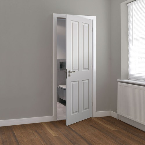 jb kind canterbury grained white primed panelled door wooden floor lifestyle