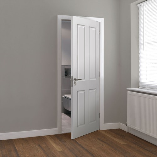 jb kind canterbury smooth white primed panelled door wooden floor lifestyle