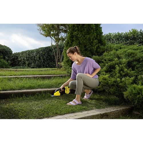 Karcher Battery Powered Grass and Shrub Shear 18 20 Machine Only Lifestyle 4