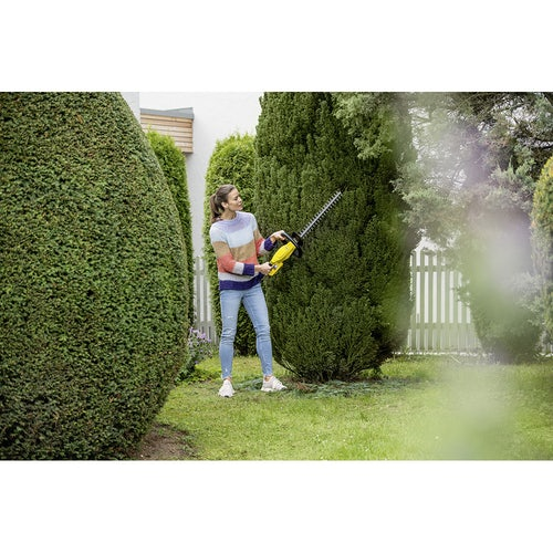 Karcher Battery Powered Hedge Trimmer 18 45 Machine Only Lifestyle Image 5