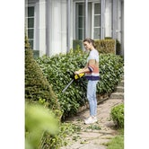 Karcher Battery Powered Hedge Trimmer 18 45 Set with Battery Lifestyle Image 3