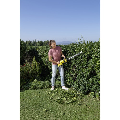 Karcher Battery Powered Hedge Trimmer 18 50 Machine Only Lifestyle Image 6