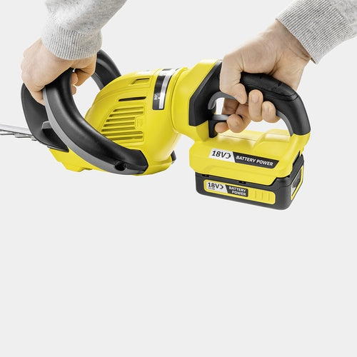 Karcher Battery Powered Hedge Trimmer 18 50 Set with Battery Detailed Image 2