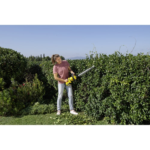 Karcher Battery Powered Hedge Trimmer 18 50 Set with Battery Lifestyle Image 5