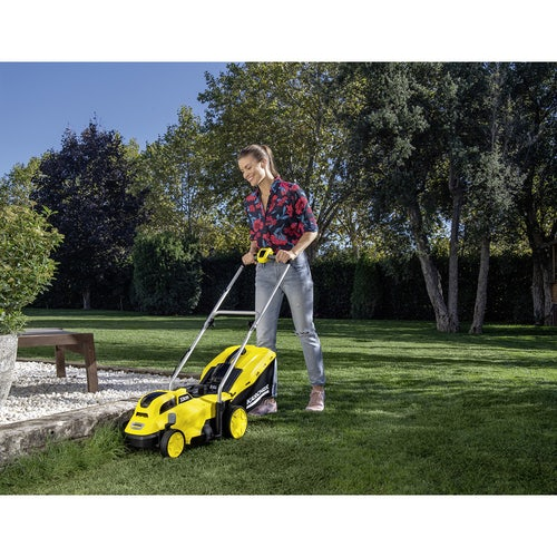 Karcher Battery Powered Lawn Mower 18 33 Machine Only Lifestyle Image 7