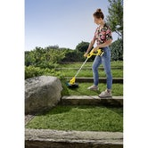 Karcher Battery Powered Lawn Trimmer 18 25 Set with Battery Lifestyle 2