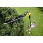 Karcher Battery Powered Pole Hedge Trimmer 18 45 Degree Machine Only Lifestyle 2