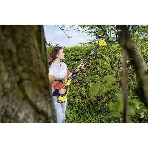 Karcher Battery Powered Pole Hedge Trimmer 18 45 Degree Machine Only Lifestyle 5