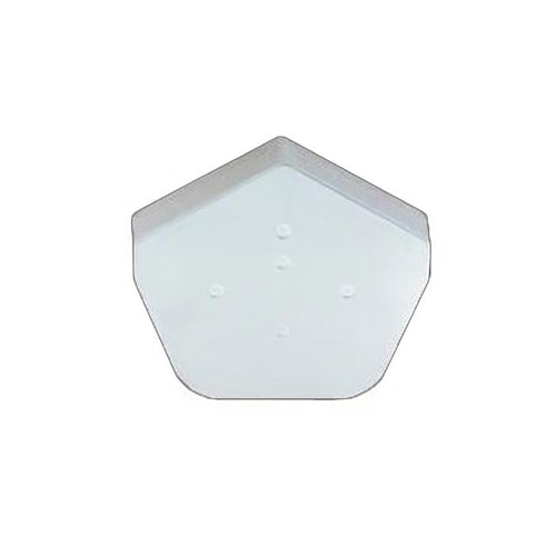 klober kr977377 uni angle ridge end white