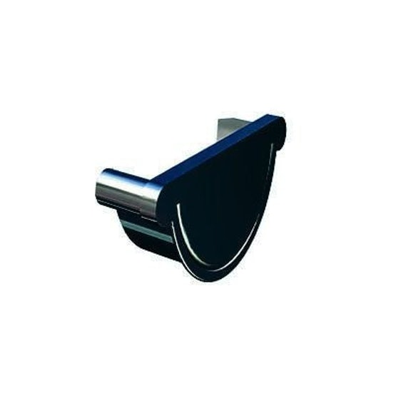 lindab steel painted half round right hand stop end