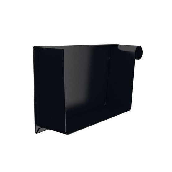 lindab steel painted rectangular right hand stop end